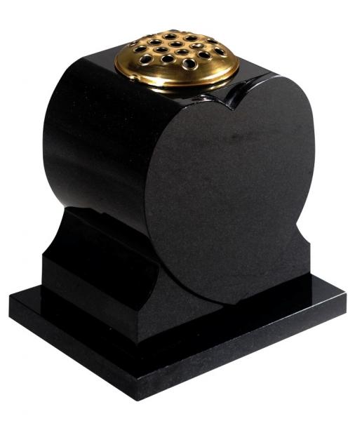 Vase Dense Black Granite